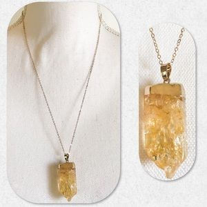 🏆HP!🏆Natural Quartz Druzy Necklace